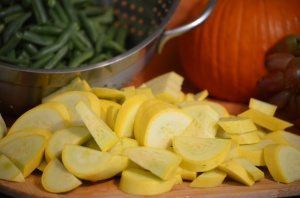 Chopped Yellow Squash & Green Beans