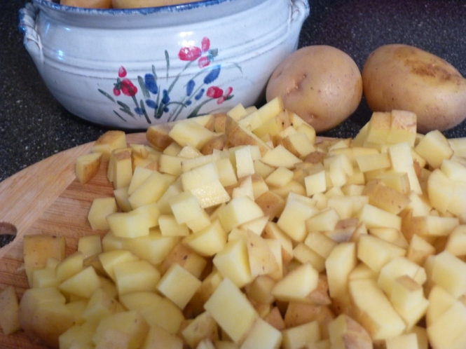 Diced yukon gold potatoes