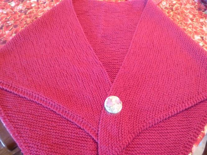 Tasha Tudor Style Hand-Knit Shawl