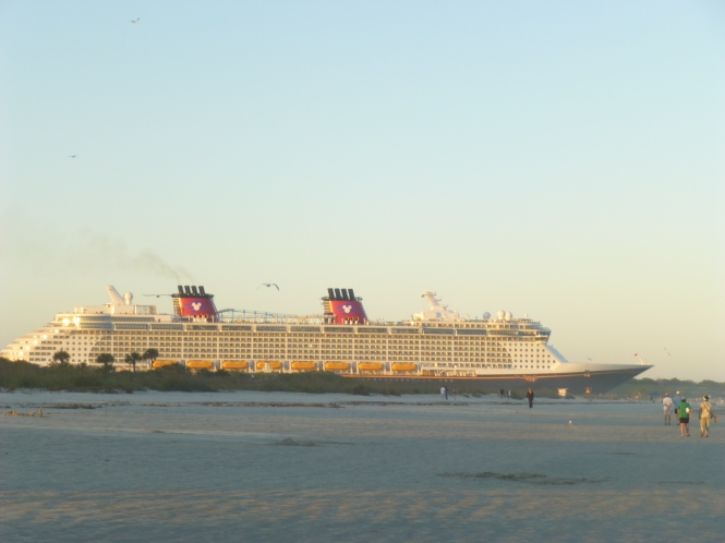Disney Cruise Ship headed out to Sea
