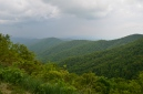 Spring Rains Mt Pisgah Blue Ridge Parkway Toyota RV Travels