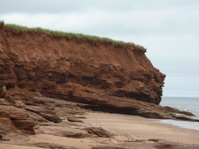 Red Sand cliffs of PEI Prince Edward Island 150 celebration