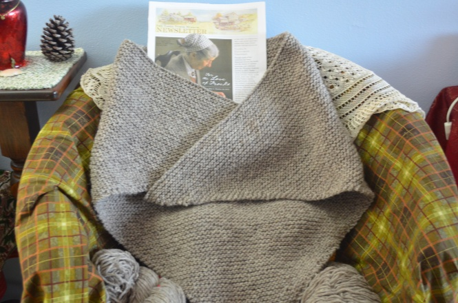 Tasha Tudor shawl tutorial birthday Tasha Tudor day Tuesday cottage shawl Irish style knitting