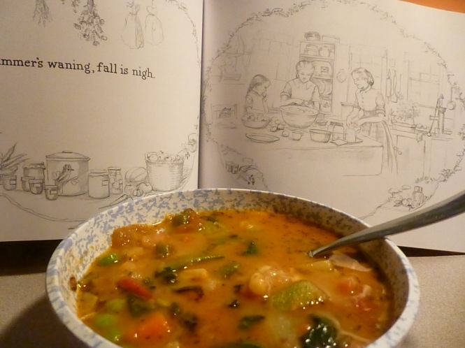 Summer waning by Tasha Tudor Summer Vegetable Soup Fall Veg Soup Kitchen Poetry Tasha Tudor Fall Farmers Markets