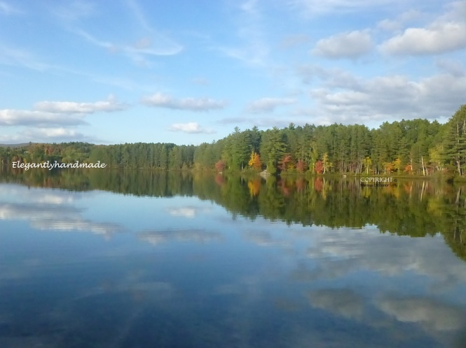 Fall in Vermont Reflections in water Autumnal lake Brighton State Park Vermont Autumn in Yankee New England States Northeast Kingdom vermont