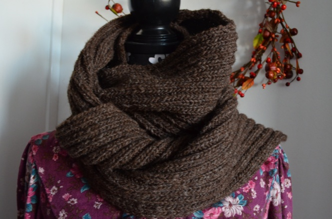 Cyber Monday sale Handmade sale Long wool wrap scarf organic vermont wool Tasha Tudor Style Christmas gifts Brown woof wrap scarf
