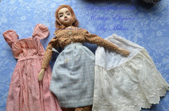 Tasha Tudor hand crafted Dolls Tasha Tudor hand stitched doll clothing A Doll for Bethany Tudor Doll Collectors art dolls doll crafting Bethany Tudor Elegantly handmade cottage elegance