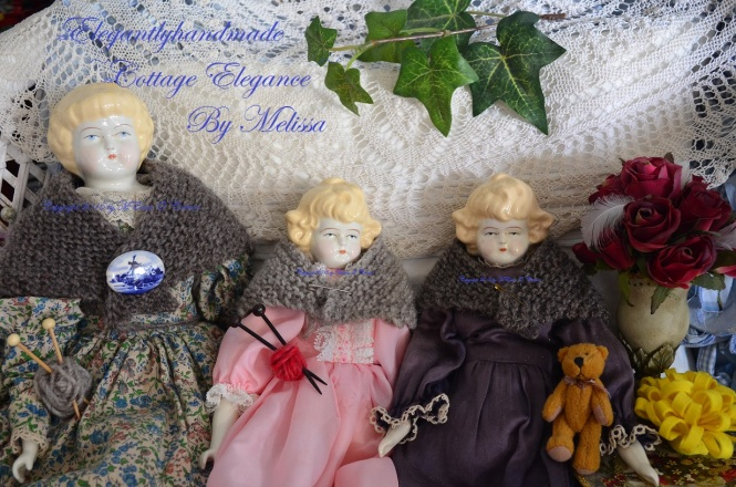 Tasha Tudor Style kindred spirit doll shawl Cottage Elegance doll shawl elegantlyhandmade doll shawl pattern pdf