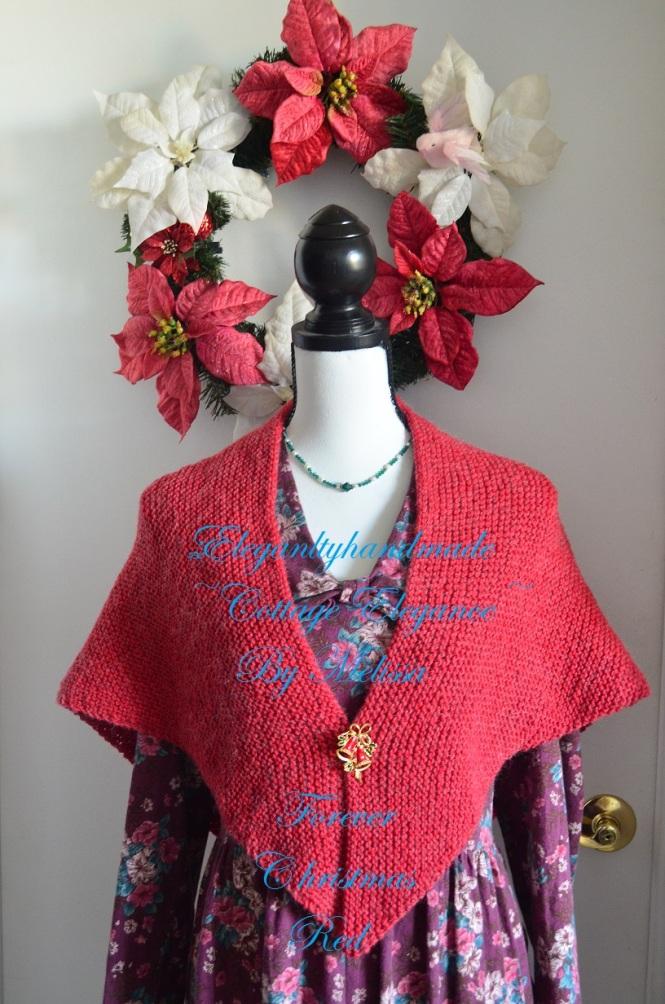 Tasha Tudor style cottage elegance kindred spirit shawl mothers day sale elegantlyhandmade.etsy.com