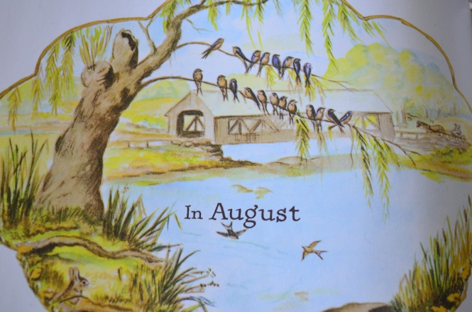 August Summers Queen Poetry R Combe Miller Tasha Tudor Around the year Recipes gardening