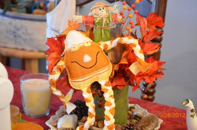 Etsy Fall autumn sale elegantlyhandmade etsy worldpress.com Fall Decor Handmade toys Candy Corn Man Autumn of my soul