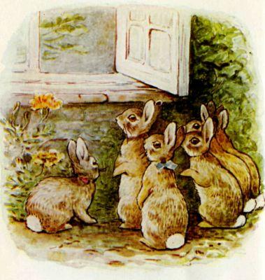 Perfect hygge day Peter Rabbits vegetarian vegetable soup Beaatrix Potter Spring vintage Hygge